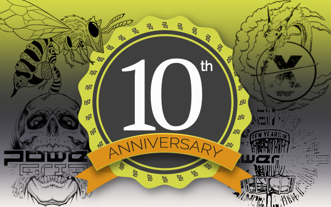 Powergrip 10th Anniversary collector discs
