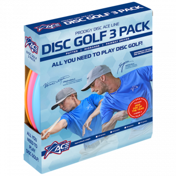 Prodigy Disc Ace BaseGrip Kiekkosetti ACE Line 3 Pack - Light Weight